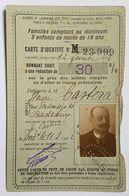 CARTE TRANSPORT - FRANCE - TRAIN - DONNANT DROIT A 30% DE REDUCTION - 1922 - - Sonstige
