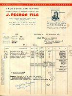 86.VIENNE.POITIERS.MANUFACTURE DE BROSSES & PINCEAUX. J.PECHON FILS 23 AVENUE DE PARIS. - Non Classificati