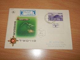 Israel 1954 Swissair First Flight Emeq-Haifa__(L-7908) - Covers & Documents