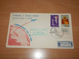 Israel 1957 El Al First Flight Lod-New York__(L-7910) - Israele