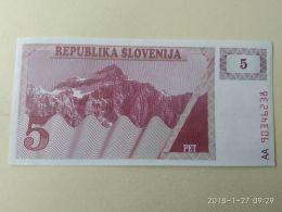 5 Tolars 1990 - Slovenia
