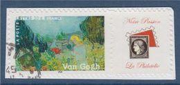 = Timbre Vincent Van Gogh Peinture Art Les Impressionnistes 3871B Vignette Notre Passion La Philatélie Oblitéré Adhésif - Personalized Stamps