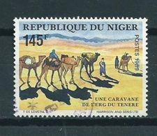 1989 Niger 145F Camels,kamelen,dieren,tiere Used/gebruikt/oblitere...cat.value 60,00 EURO - Niger (1960-...)
