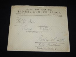 Poland 1927 Sanok Business Cover To Germany__(L-10536) - Covers & Documents