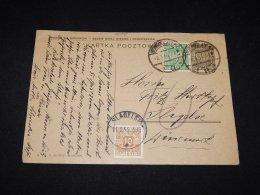 Poland 1933 Stationery Card To Denmark__(L-9095) - Ganzsachen