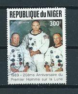 1989 Niger 300F Moonlanding Used/gebruikt/oblitere - Niger (1960-...)