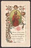 """Gesù - Il Sacro Cuore Di Gesù Fra Cherubini E Tralci Di Fiori (Francia - Fine Ottocento) - """"Riproduzione"""" - Devotion Images"""