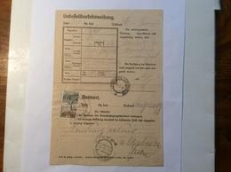 """Dienst-Formular Langenegg Vorarlberg 1932 """"PAKET UNBESTELLBARKEITSMELDUNG"""" > See In Paznaun (Österreich Brief - 1918-1945 1. Republik"""