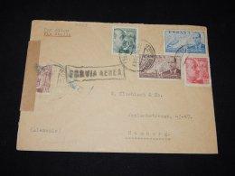 Spain 1930's Air Mail Cover To Hamburg__(L-10269) - Airmail