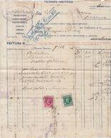 "TERMINI IMERESE  _ 1934  / Fattura - Rappresentanze "" BADALI' Salvatore "" - Italia"