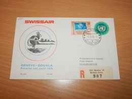 Switzerland (UN Geneva) 1970 Swissair First Flight Geneve-Douala__(L-7897) - Office De Genève