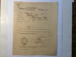 RR ! Dienst-Formular Langenegg Vorarlberg 1916 Für PAKET OHNE BEGLEITADRESSE> Wien (Österreich Brief - 1918-1945 1. Republik