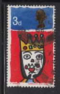 Great Britain 1966 Used Scott #478p 3p King Colour Shift: Green In Crown Jewels - 1952-.... (Elizabeth II)