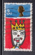Great Britain 1966 Used Scott #478p 3p King Print Shift: Queen's Head Closer To Center - 1952-.... (Elizabeth II)
