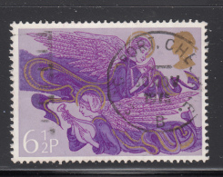 Great Britain 1975 Used Scott #758 6 1/2p Angels With Lute, Harp Christmas - 1952-.... (Elizabeth II)