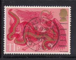Great Britain 1975 Used Scott #760 11p Angel With Horn Christmas CDS Hastings 5 Dec 1975 - 1952-.... (Elizabeth II)