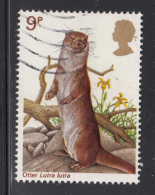 Great Britain 1977 Used Scott #819 9p Otter Wildlife Protection - 1952-.... (Elizabeth II)