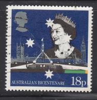 Great Britain 1988 Used Scott #1223 18p British, Australian Parliaments - 1952-.... (Elizabeth II)