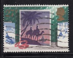 Great Britain 1988 Used Scott #1236 27p Magi, Camels Follow Star Christmas - Noël