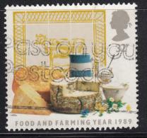 Great Britain 1989 Used Scott #1250 32p Milk, Cheese, Yogurt Dairy Products - 1952-.... (Elizabeth II)