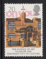Great Britain 1990 Used Scott #1315 20p School Of Art, Glasgow - 1952-.... (Elizabeth II)