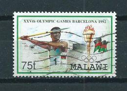 1992 Malawi Olympic Games Barcelona,sport Used/gebruikt/oblitere - Malawi (1964-...)