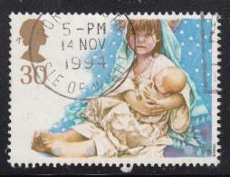 Great Britain 1994 Used Scott #1583 30p Mary Holding Jesus School Christmas Play - 1952-.... (Elizabeth II)