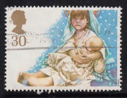 Great Britain 1994 Used Scott #1583 30p Mary Holding Jesus School Christmas Play - Noël