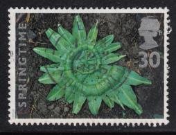Great Britain 1995 Used Scott #1593 30p Garlic Leaves Sculpture - 1952-.... (Elizabeth II)
