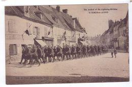 GUERRE 14 18 Arrivee Soldats Americains SEMUR EN AUXOIS Cliche Bordot - Oorlog 1914-18