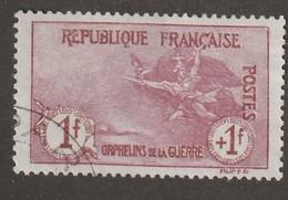 France N° 154 1+1 Orphelins De La Guerre Oblitéré Premier Choix Trés Bon Centrage - Gebruikt