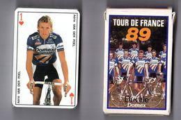 Jeu De 54 Cartes - Le Tour De France 1989 - Equipe DOMEX - Cyclisme, Cycling, Vélo - 54 Cards