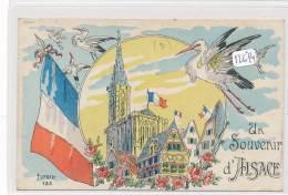 """CPA-12674-carte """" Un Souvenir D'Alsace"""" - Colmar"""