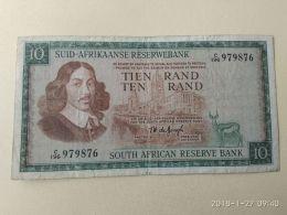 10 Rand 1966/76 - Sudafrica