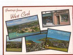 U1751 Postcard: IRELAND, Greetings From WEST CORK - Multiview: O' DRISCOLL - ED. JOHN HINDE - Cork