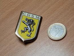 INSIGNE EMAIL. CRS 16. DRAGO PARIS. - Polizia