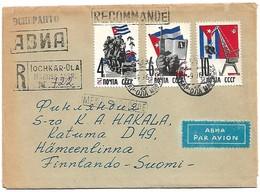 (C08) - URSS - LETTRE AVION RECOMMANDEE IOCHKAR-OLA => FINLANDE 1963 (1) - 1923-1991 URSS