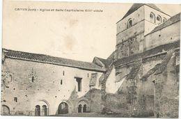 CATUS  EGLISE ET SALLE CAPITULOIRE XII Siècle - France