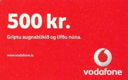 Iceland - Vodafone 500 Kr - Iceland