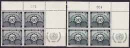 UN New York 1953 Mi 23-24,incription Block Of 4, MNH** VF - New York - Sede De La Organización De Las NU