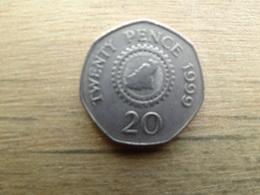 Guernesey  20  Pence  1999  Km 90 - Guernsey