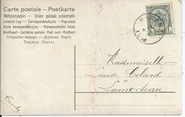 Fantasiekaart Met OCB 53 - Afstempeling HALANZY - COBA 8 - 1893-1907 Wapenschild
