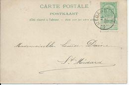 Fantasiekaart Met OCB 56 - Afstempeling ST.MEDARD - COBA 8 - 1893-1907 Wapenschild