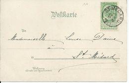 Fantasiekaart Met OCB 56 - Afstempeling ST.MEDARD - COBA 8 (ref10) - 1893-1907 Wapenschild