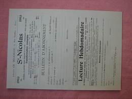 """"""" SAINT  NICOLAS """" Journal Illustré Pour Garcons Et Filles 1902 - Vieux Papiers"""