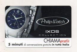 Telecom - Scheda Chiama Gratis - 2001 - PHILIP WATCH - 5 Minuti Di Conversazione Gratuita - NUOVA - (FDC7851) - [2] Sim Cards, Prepaid & Refills