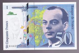FRANCE : BILLET  50 FRANCS SAINT EXUPERY 1997 - NEUF Alphabet B (2 Scan) 1 - 1992-2000 Last Series