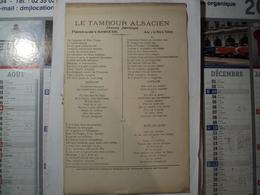 PARTITION LE TAMBOUR ALSACIEN. DEBUT XX° OU FIN XIX°? A. SONNELLY DE L OPERA COMIQUE. CHANSON PATRIOTIQUE - Song Books