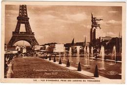 CPA Exposition Internationale Paris 1937, Vue D'ensemble, Prise Des Jardins Du Trocadero (pk41699) - Exposiciones