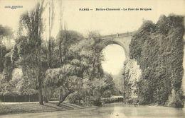 """437-""""PARIS BUTTES CHAUMONT - LE PONT DE BRIQUES"""" CART. ORIG ANIMATA - Ponti"""